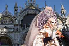 Venice Carnival Performers Stock Photos