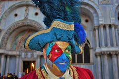 Venice carnival, portrait of a mask, during the Venetian carnival in the whole city there are wonderful masks. royalty free stock photos