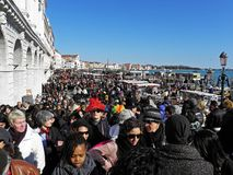 Venice carnival`s crowd,2. Carnival in Venice, Italy, Europe, fancy crowd, 2 Stock Photography