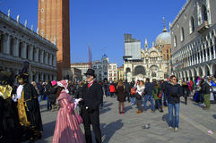 Venice carnival view Royalty Free Stock Images