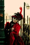 Venice carrnival costumes and masks stock photography