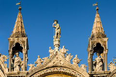 Venice cathedral, architectural detail in Italy Stock Photography