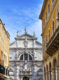 Venice a cathedral on the narrow street Royalty Free Stock Photography
