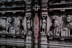 Venice cathedral projection Royalty Free Stock Photos