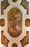 Venice - Ceiling fresco in church Chiesa dei Santi XII Apostoli by Fabio Canal La comunione degli Apostoli stock image