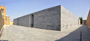 Venice Cemetery New Extension. A new extension for the cemetery of venice designed by David Chipperfield Royalty Free Stock Photos