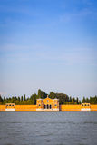 Venice Cemetery of San Michele from the waterfront Stock Image