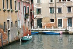 Venice center. Photo image  with  construction and boats venice canal Royalty Free Stock Images