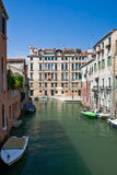 Venice channel with  boats Royalty Free Stock Photo