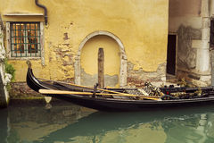 Venice channel gondola Stock Image
