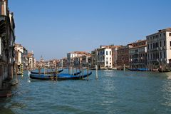 Venice channel with  gondolas Stock Photography