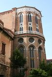 Venice, church of the Frari, apse royalty free stock photo
