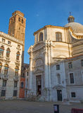 Venice - chiesa di San Geremia in evening Royalty Free Stock Photo