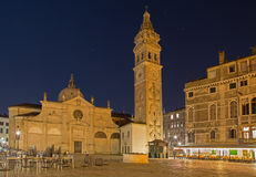 Venice - Chiesa di Santa Maria Formosa church and square at night Royalty Free Stock Image