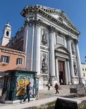 Venice - Church Chiesa dei Gesuati Stock Photos