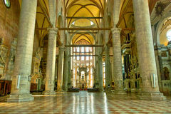 Venice. Church interior in Stock Image