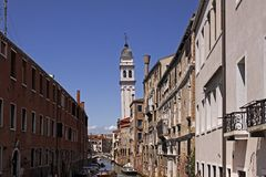 Venice, Church S. Giorgio dei Greci, Italy Royalty Free Stock Photos