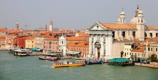 Venice with church Santa Maria del Stock Photos