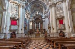 Venice - The church Santa Maria del Rosario (Chiesa dei Gesuati). Stock Photos
