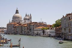 Venice, Church of Santa Maria della Salute Stock Photo