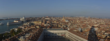 Venice city aerial panorama Royalty Free Stock Images