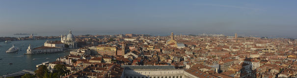 Venice city aerial panorama Stock Images
