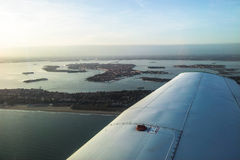 Venice in airplane Stock Image