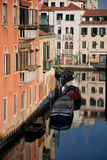 Venice city buildings reflections. In Italy Royalty Free Stock Image