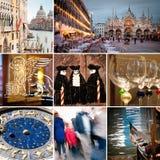 Venice city collage Stock Photos