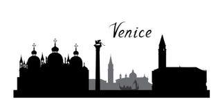 Venice city famous landmarks skyline. Travel Italy background Stock Photo