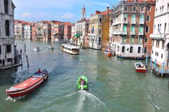 Venice city seen from Ponte Rialto , Italy Stock Photo