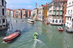 Venice city seen from Ponte Rialto , Italy stock photo