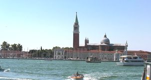 Venice city in Italy with sound and tourist on vacation stock footage