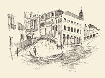 Venice city, Italy, vintage engraved illustration Stock Images
