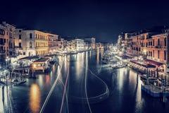 Venice city at night Stock Image