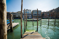 Venice - is a city in northeastern Italy sited on a group of many small islands separated by canals Stock Photos