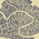 Venice city plan. Venice vector map. Monochrome vintage design base for travel card, advertising, gift or poster Stock Photography