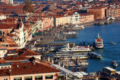 Venice with city port in Italy Royalty Free Stock Image