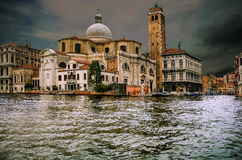 Venice. The city of Venice seen from the canal royalty free stock photos