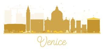 Venice City skyline golden silhouette. Royalty Free Stock Photo