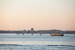 Venice city skyline at sunrise Stock Photo