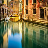 Venice cityscape, bridge, buildings and water canal. Italy Royalty Free Stock Image
