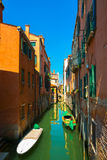 Venice cityscape, buildings, water canal and bridge. Italy Royalty Free Stock Image