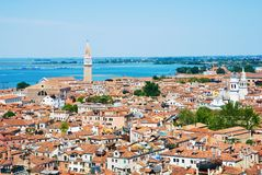 Venice cityscape from Campanile di San Marco. Stock Photos