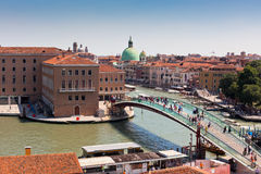 Venice cityscape and The Constitution Bridge Stock Image