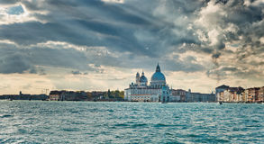 Venice cityscape from the Giudecca Canal Royalty Free Stock Photography