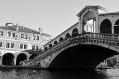 Venice Cityscape - Rialto Bridge Stock Photo