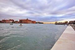 Venice cityscape. On the sunset Stock Image