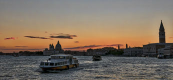 Venice cityscape at sunset Royalty Free Stock Image