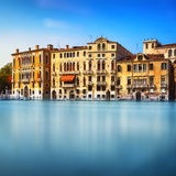 Venice cityscape, traditional buildings on water grand canal . I Stock Images
